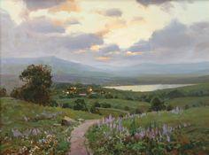 Aleksander Babich. Spring Evening, Oil. Russian Artist
