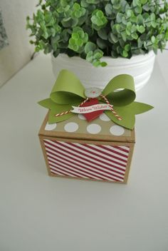 Craft box, Seasons of Style, Gift Bow Bigz L Die Stampin' Up! More info: www.miriam-cardsandscrapping.blogspot.nl