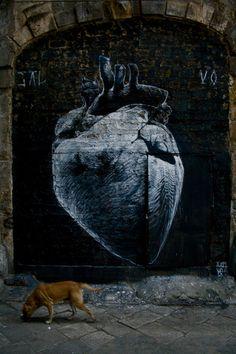 Alejandro Dorda - Cœur - Street art