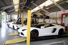 Lamborghini workshop
