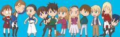 Gundam Wing - Chibi Cast Best Sci Fi, Gundam Wing, Create Image, Mobile Suit, Pilots, Fantasy Art, Chibi, Video Games, Cartoons