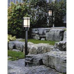 Hubbardton Forge Tourou Outdoor 1 Light Lantern Head Finish: Black, Shade Type: Opal, Bulb Type: (1) 150W fluorescent bulb