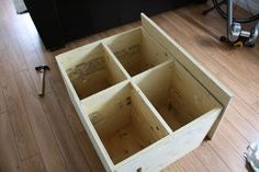 Diy wood boxes and crossfit on pinterest for Plyo box template