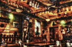 A beautifully decorated interior of the Homely Cottage, one of many restaurants serving traditional Polish food in the tourist town of Karpacz. Polish Food, Polish Recipes, Indoor Photography, Beautiful Interiors, Poland, Restaurants, Cottage, Traditional, Home