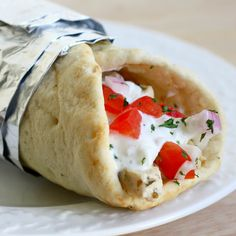 Chicken Gyros - great marinade but will use a different recipe for the sauce