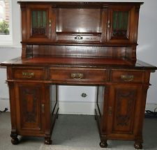Antiker Schreibtisch mit Aufsatz ** Gründerzeit **