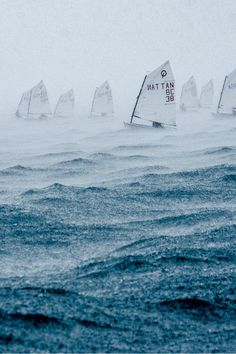 Sail a sailboat through a heavy storm (and live) *bucket list!*
