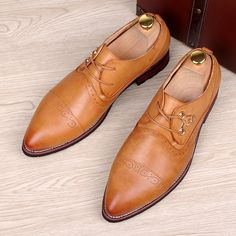 46.28$  Watch now - http://aif65.worlditems.win/all/product.php?id=32627009000 - England designer brand business wedding dress genuine leather bullock shoes carved brogue pointed toe flats shoe oxfords sapatos