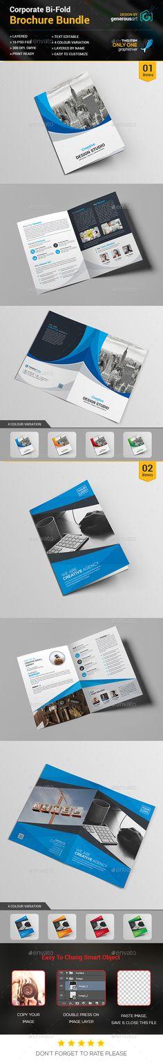 2 Bi-fold Brochure Templates PSD. Download here: https://graphicriver.net/item/bifold-bundle_2-in-1/16962712?ref=ksioks