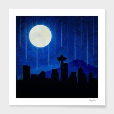 """""""Sleepless Seattle"""", Numbered Edition Fine Art Print by Tracey Coon - From $25.00 - Curioos"""