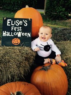 Personalized Baby's First Halloween Sign. Solid wood, Hand Painted 1-sided. by EverythingForAReason on Etsy https://www.etsy.com/listing/254500038/personalized-babys-first-halloween-sign