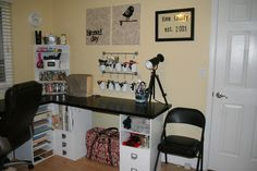 This is a Scrapbooking desk but it gives me great ideas for my cupcake room in the new house