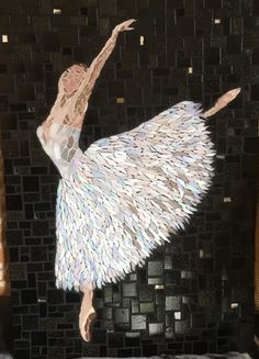 My go at making a mosaic ballerina picture, Mosaic ideas www.hannahbanksjewellery.etsy.com
