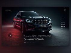 Alpina web design concept by Lucas Website Design Layout, Web Layout, Layout Design, Ui Ux Design, Ad Design, Car Advertising, Advertising Design, Postcard Layout, Advert Design