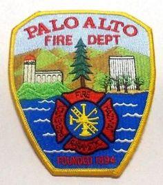 Palo Alto Fire Dept CA Fire Dept Patch California