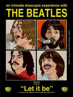 Cartel promocional del album  LET IT BE de THE BEATLES.