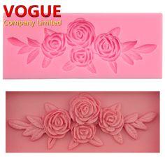 Lovely krásne kvety Rose Kytica Modeling fondant silikónové formy Kuchynské doplnky torta zdobením NÁSTROJE N2804