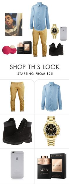 """""""Untitled #238"""" by sammy-pinckney ❤ liked on Polyvore featuring Clayton, Natural Selection, Timberland, Rolex, Native Union, Eos, men's fashion and menswear"""