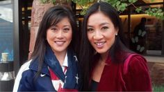 Kristi Yamaguchi and Michelle Kwan at the Olympic Media Summit