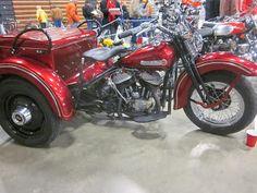 OldMotoDude: 1958 Harley Davidson ServiCar on display at the 2013 Idaho Vintage Motorcycle Show -- Caldwell, Id