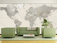 Like the world map mural in a mud room or large bathroom