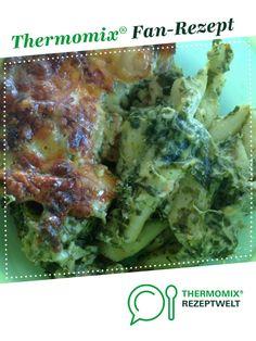 Lachs-Spinat-Nudelauflauf von kruemelmonster. Ein Thermomix ® Rezept aus der Kategorie Hauptgerichte mit Fisch & Meeresfrüchten auf www.rezeptwelt.de, der Thermomix ® Community.