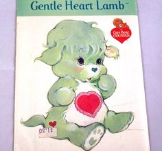 Vintage Pattern, Gentle Heart Lamb, Care Bear Cousins, UNCUT, Factory Folded, Stuffed Animal, Soft Toy, 1980s
