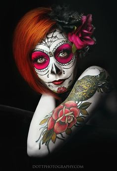 Sugar Skull - Dia De Los Muertos/Day Of The Dead Makeup Inspiration by dottphotography.com