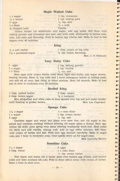 Old Recipes, Vintage Recipes, Cake Recipes, Dessert Recipes, Cooking Recipes, Tasters Choice, Community Cookbook, Vintage Cakes, Walnut Cake