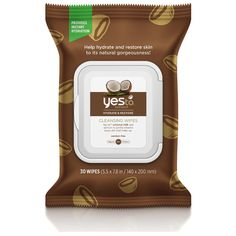 yes to Coconut Cleansing Wipes (Pack of 30) (66.480 IDR) ❤ liked on Polyvore featuring beauty products