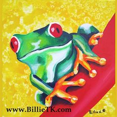 Frog have so many colors and shapes. They are fun to paint. Heres one of my original paintings.