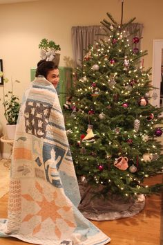 Cozy quilt featuring Fair Isle fabrics from Wintergreen and the Bee
