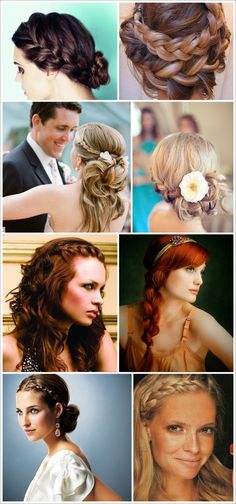 romantic braid updo hair wedding formal prom bridesmaids bridal