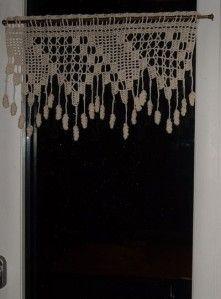 Crochet Curtains, Lace Curtains, Crochet Doilies, Crochet Flowers, Crochet Home, Love Crochet, Knit Crochet, Crochet Furniture, Knitting Stitches