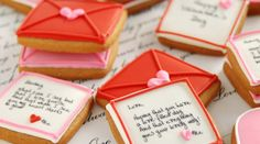 Love note valentine cookies