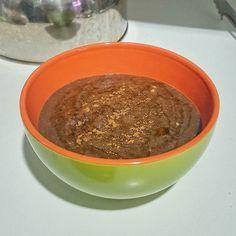 Mingau de claras aveia e linhaça!  Ingredientes: 150ml de água 3 claras de ovo…