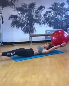 Stability ball exercises for abs and core. Stability ball exercises for abs and core. Body Fitness, Physical Fitness, Fitness Diet, Fitness Motivation, Health Fitness, Training Motivation, Motivation Quotes, Abs Quotes, Video Fitness