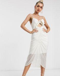 Shop the latest Significant Other malia broderie midi slip dress trends with ASOS! Cream Midi Dress, Pleated Midi Dress, Asos, Petite T Shirts, Latest Dress, Mi Long, Safari, Fit, Dresses