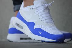 Basket Nike Air Max 1 Ultra Essential Mini Swoosh Racer Blue (5)