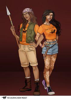 Clarissa and Silena Percy Jackson Fan Art, Percy Jackson Fandom, Solangelo, Percabeth, Oncle Rick, Daughter Of Poseidon, Tolkien Books, Percy And Annabeth, Tio Rick