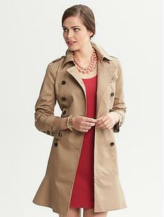 """Flared Trench - 40% off - Banana Republic {take 40% off on select fall essentials w/ code """"BRCOZY"""" thru 11/10}"""