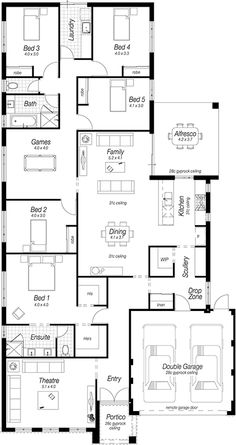 Love it!!!!! 5 beds!!! New Home Designs Perth | The Masquerade | Ross North Homes