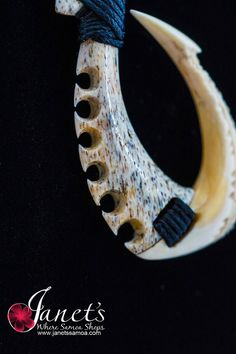 Janet's - Whale Hook and Shell BRPW52, 219.00 AUD (http://www.janetssamoa.com/whale-hook-and-shell-brpw52/) Whale Bone and Whale Ivory (Tooth)Carved in to South Pacific Fish Hook Fine Carvings into Whale Bone creates a brilliant piece Finished with fine Samoan Carvings and Motifs. Afa (Coconut Husk) Holds Whale Bone