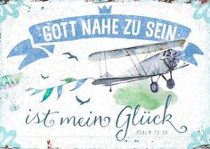 Format 14,8 x 10,5 cm Text: Gott nahe zu sein, ist mein Glück. Psalm 73,28