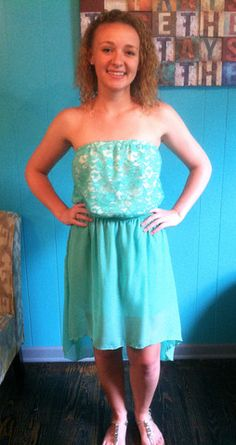 Lace Mint Dress | Lynn's Boutique