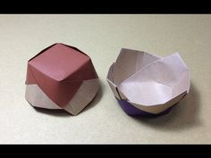How to Make a Paper Ceramics / Origami Flower Vessel / Candy Dish Origami And Kirigami, Origami Ball, Origami Paper Art, Origami Folding, Origami Stars, Paper Folding, Paper Crafts, Oragami, A4 Paper