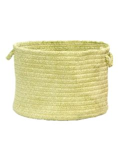 With all the freshness of wildflower fields and spring breezes, this basket is beautiful and easy to clean. Soft chenille and stain resistance make it perfect as a toy holder or laundry hamper, and it's reversible for twice the wear. 12'' H x 18'' diameter100% chenilleSpot cleanMade in the USA