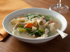 Hearty Italian Chicken and Vegetable Soup Recipe : Food Network Kitchens : Food Network - FoodNetwork.com