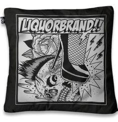 Stiletto Skull Cushion Cover Pillow BNWT Punk Rockabilly Alternative Tattoo Goth in Cushions, Decorative Pillows   eBay
