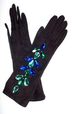 Yves Saint Laurent jeweled gloves